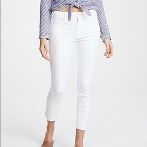 NWOT Mother Looker Crop White Jeans